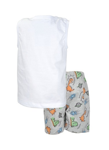 Zeyland Beyaz Cute Dino T-Shirt ve şort Takım (9ay-7yaş) Beyaz Cute Dino T-Shirt ve şort Takım (9ay-7yaş) Beyaz